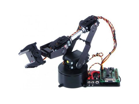 Lynxmotion AL5B 4 Degrees of Freedom Robotic Arm (Hardware Only)