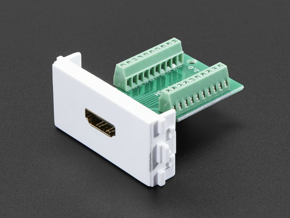 Panel mount hdmi socket to terminal block breakout 10323013