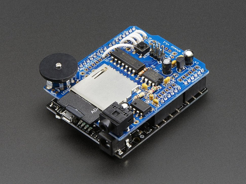 Adafruit wave shield for arduino kit v