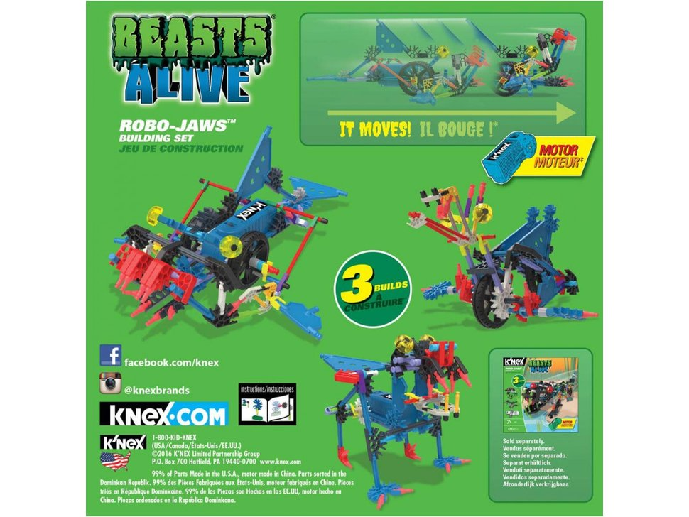 Robo Jaws Knex Building Set In India Thingbits Electronics