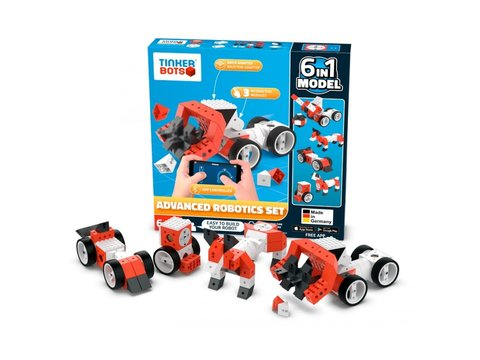 Tinkerbots Robotics Construction 6 in 1 Advanced Set