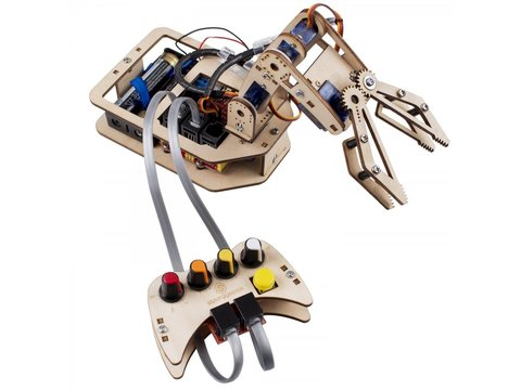 4-Axis DIY Wooden Robotic Arm Kit