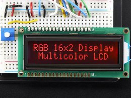 RGB backlight negative LCD 16x2 + extras - RGB on black