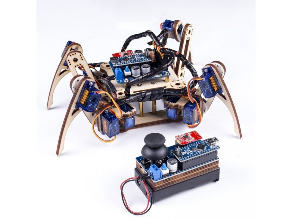Crawling quadruped robot kit for arduino 9635658461