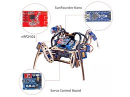 Crawling quadruped robot kit for arduino 2907804100