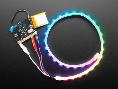 Adafruit NeoPixel LED Strip w/ Alligator Clips - 60 LED/m