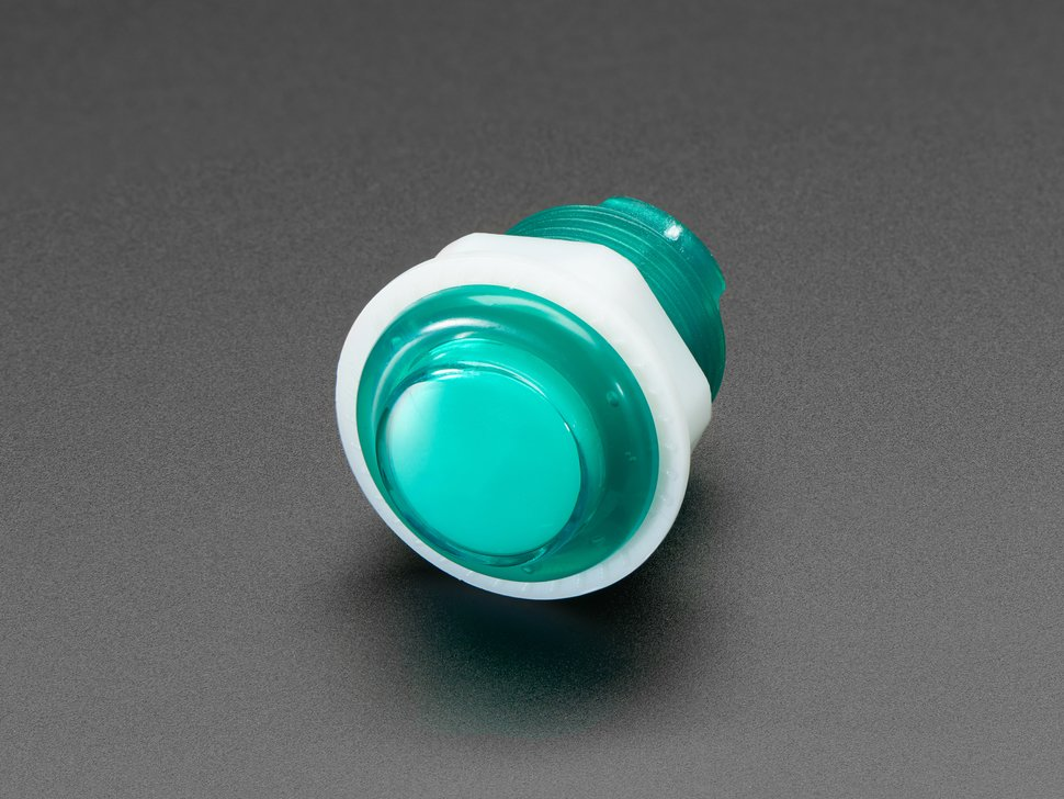 Mini LED Arcade Button - 24mm Green