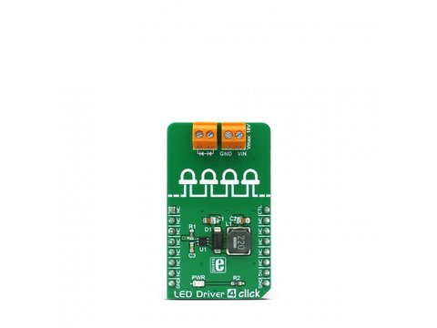 Mikroe LED Driver 4 click with PWM Brightness Control - TPS61160A