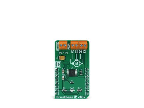 Mikroe Brushless 5 click - 3 Phase Sensorless BLDC Motor Controller - A4941