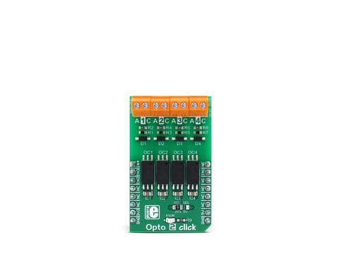 Mikroe Opto 2 click - 4 Channel Optical Isolator (Optocoupler) Module