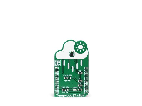 Mikroe Temp-Log 2 click -  TMP116 High-Accuracy (±0.2°C) Low-power Digital Temperature Sensor