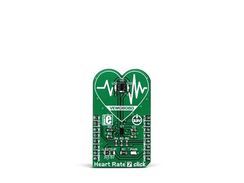 Mikroe Heart Rate 7 click - Heart Rate Monitoring (HRM) Sensor w/ VEMD8080 / AFE4404 / VLMTG1400