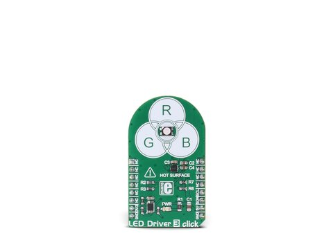 Mikroe Led Driver 3 click - RGB LED Driver with Dimming over I2C - NCP5623B