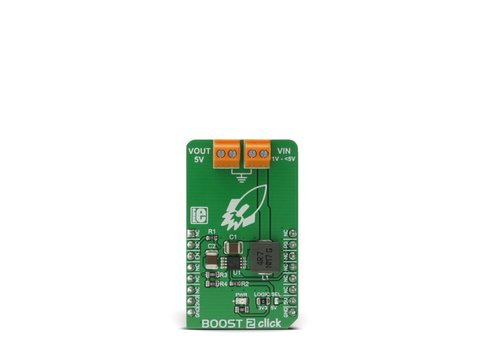 Mikroe Boost 2 click - DC-DC Step-Up (Boost) Regulator w/ Fixed 5V Output - MCP1642B