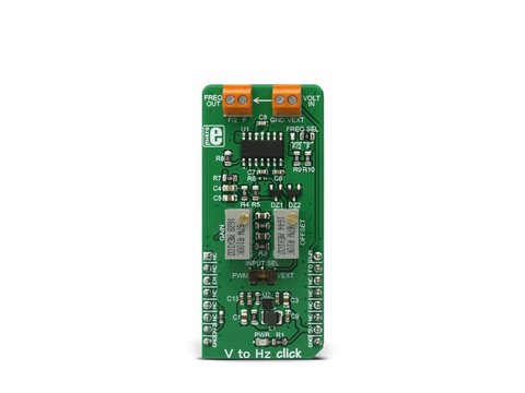 Mikroe V To Hz click - Voltage to Frequency (Pulse Wave Signal) Converter - TC9400
