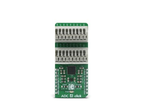 Mikroe ADC 4 Click - Multichannel Analog to Digital Converter - AD7175-8