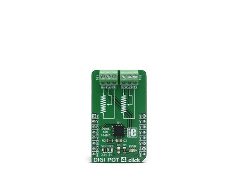 Mikroe DIGI POT 4 click - Dual Channel Digital Potentiometer (10 KΩ) - MAX5494