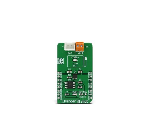 Mikroe Charger 5 Click - 3.7V Li-Po/Li-Ion Single Cell Charger - MCP73113
