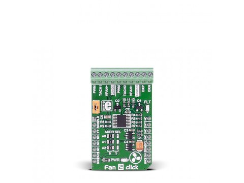 Mikroe Fan 2 click - Temperature Sensing MAX31760 Precision Fan Speed Controller