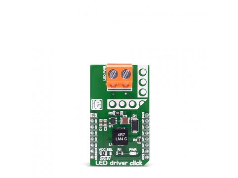 Mikroe LED driver click - MCP1662 Step-up Voltage Driver with Dimming