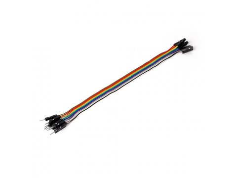 Mikroe Ribbon Cable 10-wire, Male/Female, 20 cm