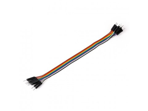 Mikroe Ribbon Cable 10-wire, Male/Male, 20 cm