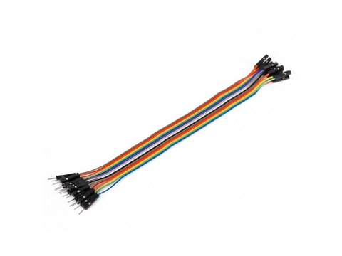 Mikroe Ribbon Cable 16-wire, Male/Female, 20 cm