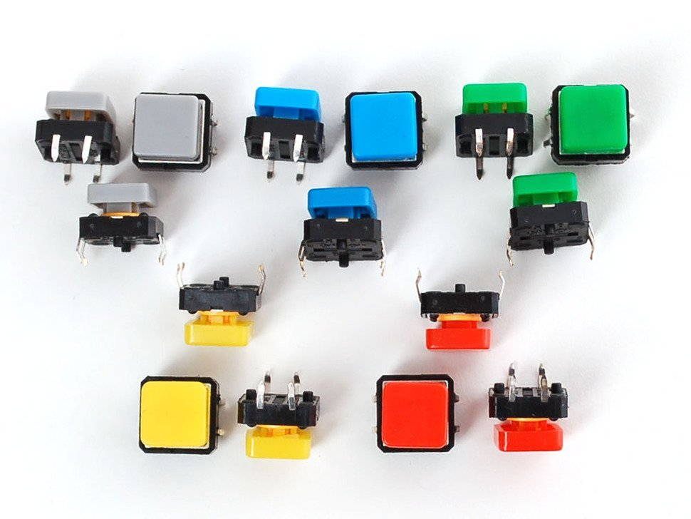 Colorful square tactile button switch as 806880534