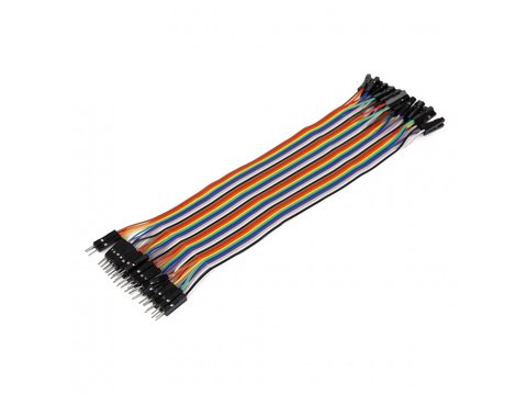 Mikroe Ribbon Cable 40-wire, Male/Female, 20 cm