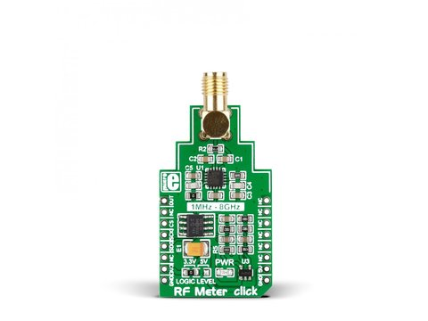 Mikroe RF Meter click - Radio frequency Power Measurement Device with AD8318 Logarithmic Detector