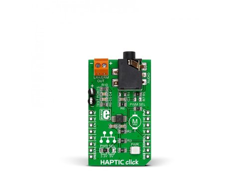 Mikroe HAPTIC click - DRV2605 Haptic Driver for ERM and LRA Vibration Motors