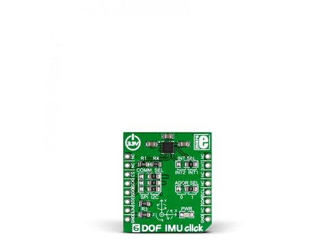 Mikroe 6DOF IMU click - LSM6DS33TR with 3 Axis Gyroscope and  3 Axis Accelerometer