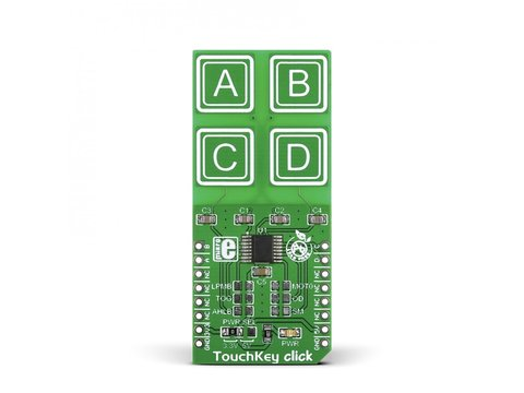Mikroe TouchKey click - Four Capacitive Pads - TTP224