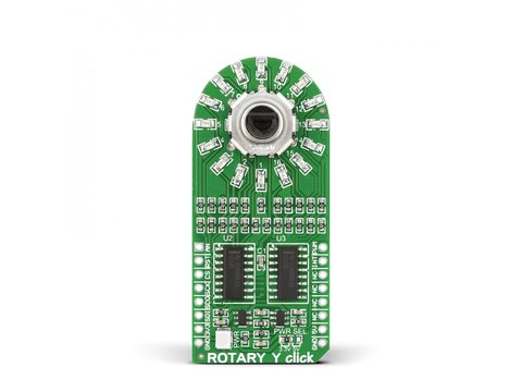Mikroe ROTARY Y click - 15 Pulse Incremental Rotary Encoder with Yellow LEDs