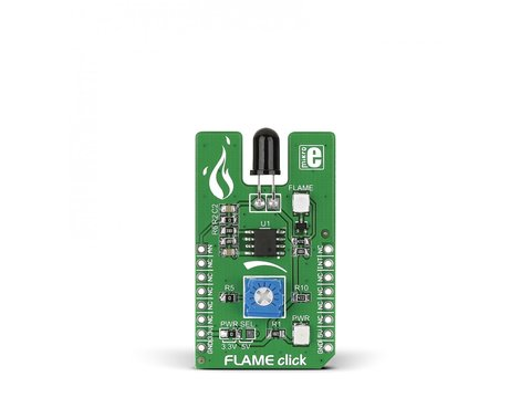 Mikroe FLAME click - Fire Detection Module w/ PT334-6B Silicon Phototransistor