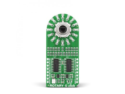 Mikroe ROTARY G click - 15 Pulse Incremental Rotary Encoder with Green LEDs