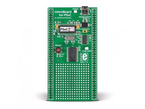 Mikroe mikroBoard for PSoC with CY8C27643