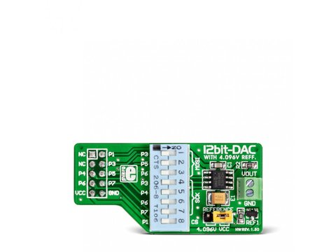 Mikroe DAC Board - 12-bit Digital-to-Analog Converter MCP4921 w/ SPI Interface