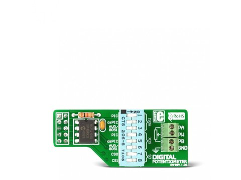 Mikroe Digital Potentiometer Board - MCP41010 with 8-bit Resolution (256 wiper steps) w/ SPI Interface