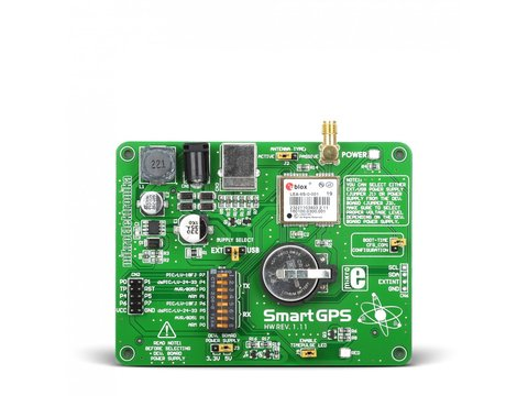 Mikroe SmartGPS Board - Development Tool with LEA-6S Module