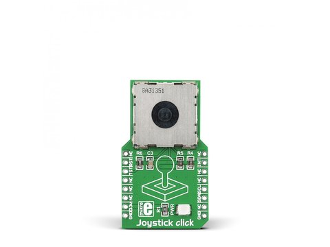 Mikroe Joystick click with N50P105 Miniature Magnetic Joystick and AS5013 Hall IC