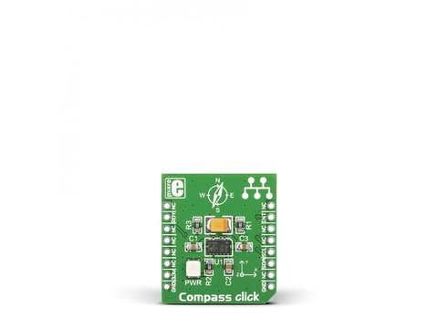 Mikroe Compass click - Digital 3D Accelerometer, 3D Magnetic Sensor w/ I2C and SPI Interface - LSM303DLHC