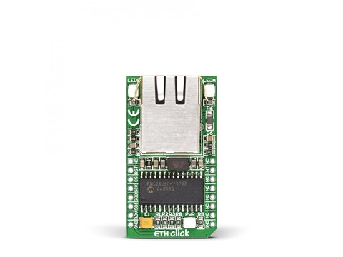 Mikroe ETH Click - ENC28J60 28-pin, 10BASE-T Stand Alone Ethernet Controller Module