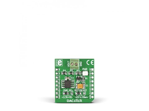 Mikroe DAC Click - 12-bit Digital-to-Analog Converter MCP4921 w/ SPI Interface