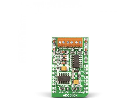 Mikroe ADC click - MCP3204 12-bit Analog-to-Digital Converter