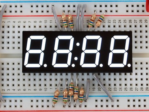 "White 7-segment clock display - 0.56"" digit height"