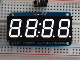 "Adafruit 0.56"" 4-Digit 7-Segment Display w/I2C Backpack - White"