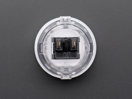 Arcade button 30mm translucent clear 8028315284