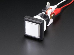 Led illuminated pushbutton 30mm square 5254780577