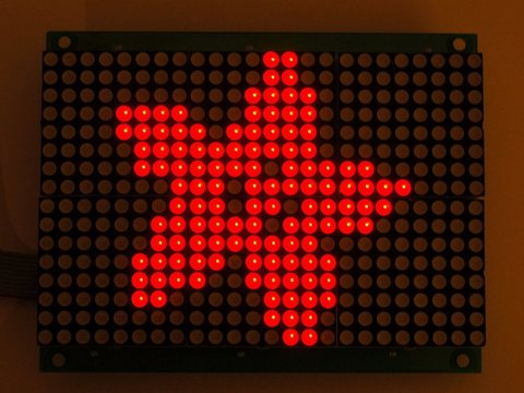 16x24 Red LED Matrix Panel with Chainable HT1632C Driver